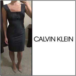 Calvin Klein Career Dress, Dark Gray, sz 4